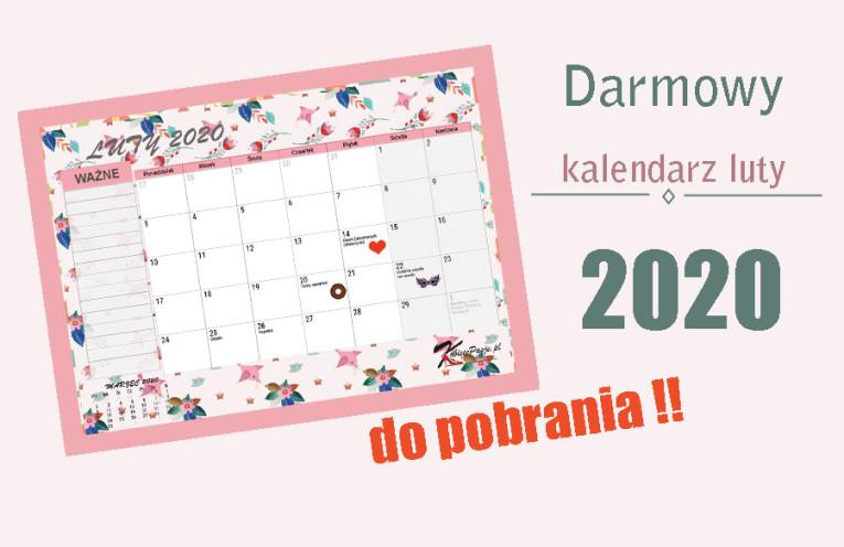 darmowy kalendarz luty 2020