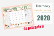 kalendarz sierpień 2020